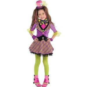✏Mad Hatter Party City Costume Girl's Medium